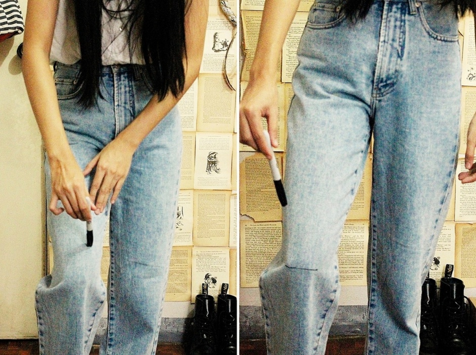 DIY: DISTRESSED BOYFRIEND JEANS | Lyndsay Picardal | Boho ... Diy Distressed Boyfriend Jeans
