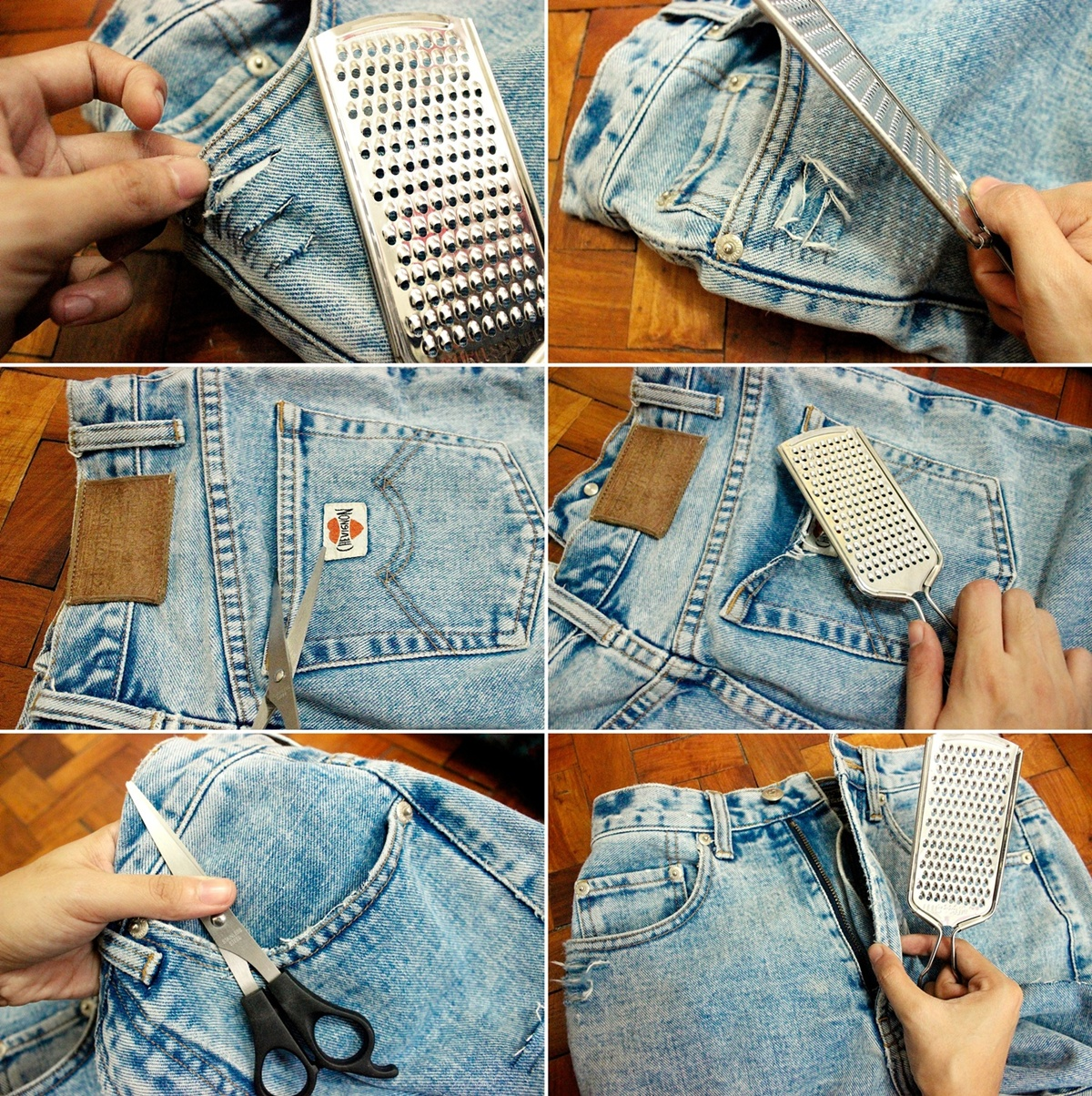 How to Distress Jeans — Crafthubs
